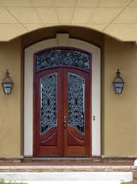 Image Search Results For Heavy Glass Front Door Brown Wrought - Iron exterior door