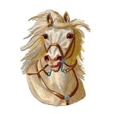 white horse face side. Brilliant Face White Horse Face Circus Animal Decorative Home Pillow Cushion Cover 2 Side  18 On Horse Face Side P
