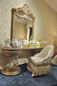 gold vanity set furniture vanity dressing table mirror and chair luxury wood carving dressing table dresser gold vanity set