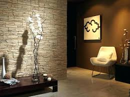 faux stone accent wall indoor ideas beautiful entrance hall designs and interior panels with glass diy faux stone