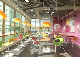 Дизайн проект кафе в стиле китч с картинами автора Главный зал кафе
