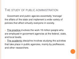 public administration 2 the study of public administration
