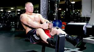 brock lesnar workout pictures