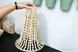 wooden bead chandelier wooden bead chandelier tutorial wooden bead chandelier come learn how to make your