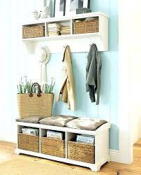 Hall Coat Rack With Storage Entryway Bench Seat With Hat Coat Rack Storage Shoe Shelf Narrow 13