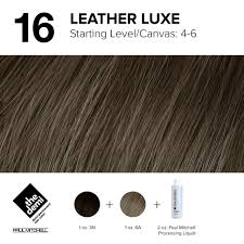 16 Color Chart 16 Leather Luxe In 2019 Paul Mitchell Hair Products Hair