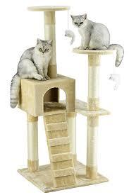 Amazon Go Pet Club Cat Tree Furniture Beige Cat Towers