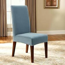 short chair covers sure fit stretch pinstripe short dining room chair slipcover picture 2 of 2
