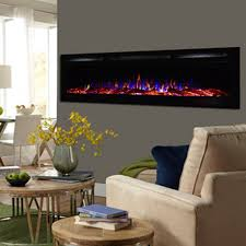 view a larger image of touchstone sideline 72 inch wall mounted recessed electric fireplace black