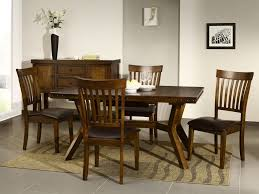 dark wood extending dining table and  chairs set (bewley dark