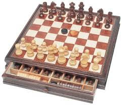 Wooden Board Game Sets Fine Wooden Chess Checkers Combination Set Combination 23