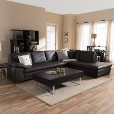 Diana Dark Brown Leather Sectional Sofa Set Free Shipping Today