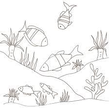 Pesci In Fondo Al Mare Da Colorare Cose Per Crescere