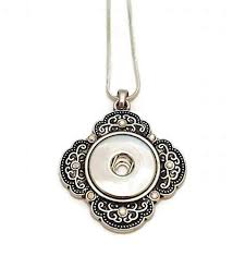 wahmteam snap necklace interchangeable snap jewelry fits 18mm snap ons