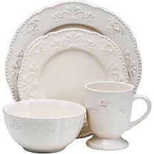 better homes and gardens dishes. Fine Gardens Better Homes And Gardens Medallion Wreath 16Piece Dinnerware Set Cream  Mist With And Dishes T