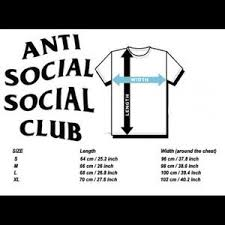 Anti Social Social Club Tee Size Chart Anti Social Social Club Rainbow Tee Nwt