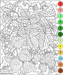 Small Picture by number coloring pages for adults
