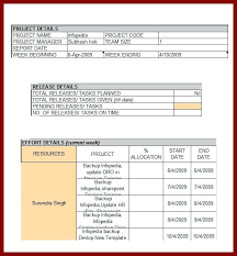 weekly report format in excel free download status report template excel sample status project report template