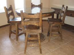 rustic round dining table glass