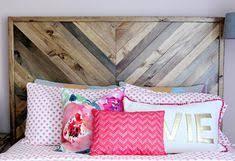 48 Best Headboard images | Reclaimed wood beds, Wood beds, Chevron bedding