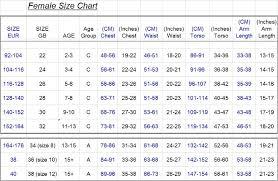 Leotard Size Chart 3 Www Bedowntowndaytona Com