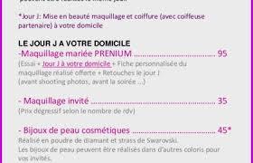 Coiffure Maquillage Mariage Tarif 73526 Prix Coiffure