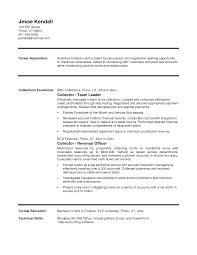 Revenue Collector Sample Resume Mitocadorcoreano Com