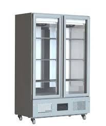 foster fsl800g 800 ltr glass double door display fridge
