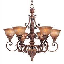 illuminati 6 light illuminati bronze chandelier