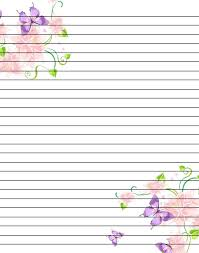Lined Stationery Paper Custom Free Printable Flower Notebook Paper Google Search PRINTABLES
