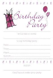 party invite templates free teenage party invitations birthday invitation templates free