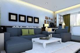 image of blue living room walls decor