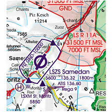 Switzerland Rogers Data Vfr Aeronautical Chart 500k 2019 Crewlounge Shop By Flyinsite