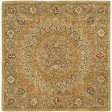 safavieh heritage light brown grey 10 ft x 10 ft square area rug