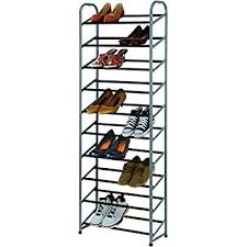 Home Basics 10 Tier Coated Non Woven Shoe Rack Amazon Home Basics FreeStanding Shoe Rack 100Tier 100100 x 18