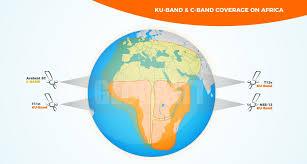 C Ku Band Satellite Chart Africa Coverage