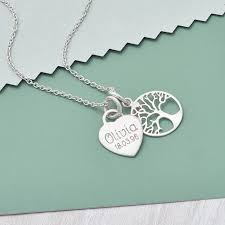 personalised sterling silver tree of life pendant