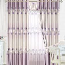 unique thermal curtains in lilac color thick polyester bedroom curtains