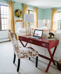 living room desks furniture: how to create a workspace in a family room loving this lamp from homegoods