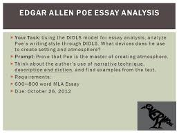 how to write an essay introduction for edgar allan poe writing poe s writing style and techniques term paper brainia com