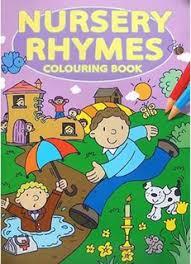 nursery rhymes colouring book