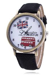 london face faux leather watch