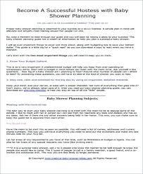 Baby Shower Planning Checklist Baby Shower Planning Guide Baby