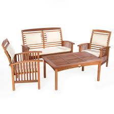 Ultranatura tavolo da giardino della serie canberra legno di