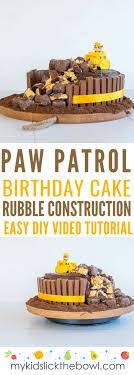 Paw Patrol Birthday Cake Easy Diy Tutorial Videp