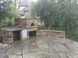 stamped concrete patio with fireplace. Adding In An Organic Stamped Stone Patio Is A Perfect Way To Stand Out From Any Other Design. Functionality And Design Your Outdoor Concrete With Fireplace