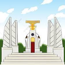 อนุสาวรีย์ประชาธิปไตยสัญลักษณ์สีเหลืองขาว, ไอคอนสีขาว, ไอคอนสีเหลือง,  อนุสาวรีย์ประชาธิปไตยภาพ PNG และ เวกเตอร์ สำหรับการดาวน์โหลดฟรี