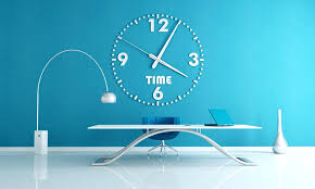office wall clocks. Office Wall Clocks Large Blue Clock Decorative White Hanging On . C