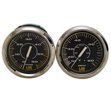 bayliner us marine faria chrome black piece boat tachometer bayliner us marine faria chrome black 2 piece boat tachometer speedo gauge set