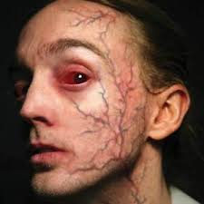 image is loading temporary face tattoo vein possessed zombie fx makeup